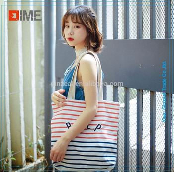Printed Fashion Cotton Customized Canvas Tote Foldable Shopping Utility Tote Bag