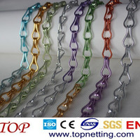 Light double jack chain metal hook link chain curtains