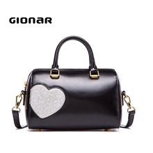 Wholesale Authentic Designer Boston Cute Leather Handbag For Girls