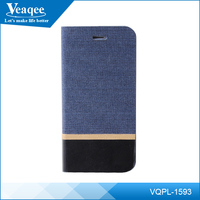 Veaqee oem universal smart phone wallet style leather case cover for 4.7 inch cell phone