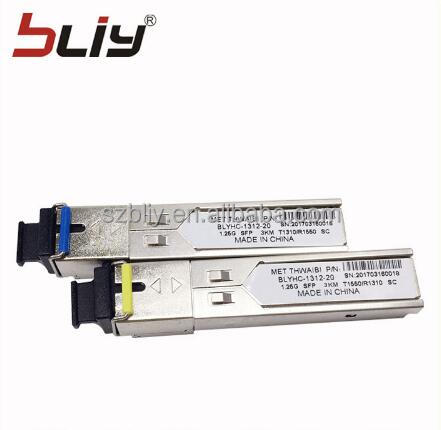 BIDI mini 1.25G Gigabit 3km sc connector sfp transceiver for for cisco