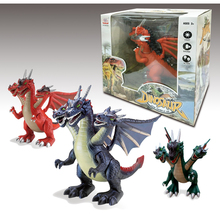 Best Selling Plastic Toy Three-headed Dragon 3d Model with Wings
