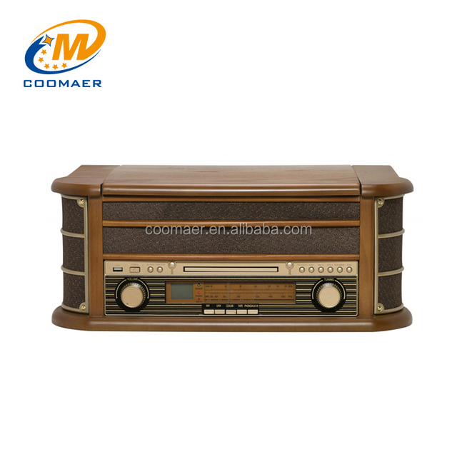 classic vintage am fm radio usb cd gramophone record player cassette recorder