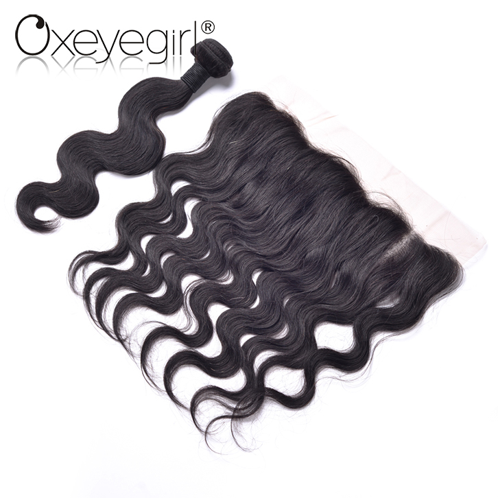 Alibaba wholesale remy hair bundle with ear to ear lace closure