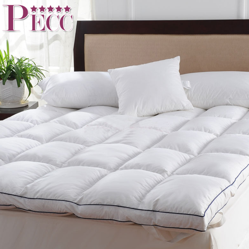Washable Sleep Well Duck Down Luxurious Cheap Mattress Topper Pad