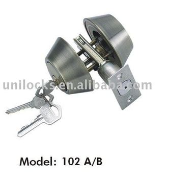 Double Cylinder DeadBolt lock 102 AB