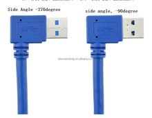 stock usb 3.0 cable 90 Degree Right Angle Blue