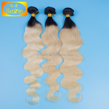 Wholesale Bolin Hair Blonde Color 1B/613 Wave Brazilian Virgin Human Hair Weave Wavy Blonde Brazilian Hair Extensions