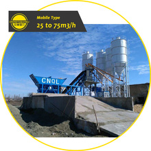 New Price 25 to 180m3 Stationary Mobile Ready Mix Cement Concrete Batching Plant For Sale