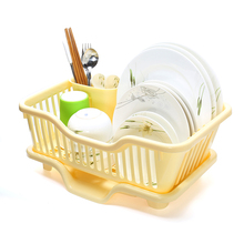 Dish Rack Cutlery Drainer Kitchen Holder Drying Organizer Sink Plastic