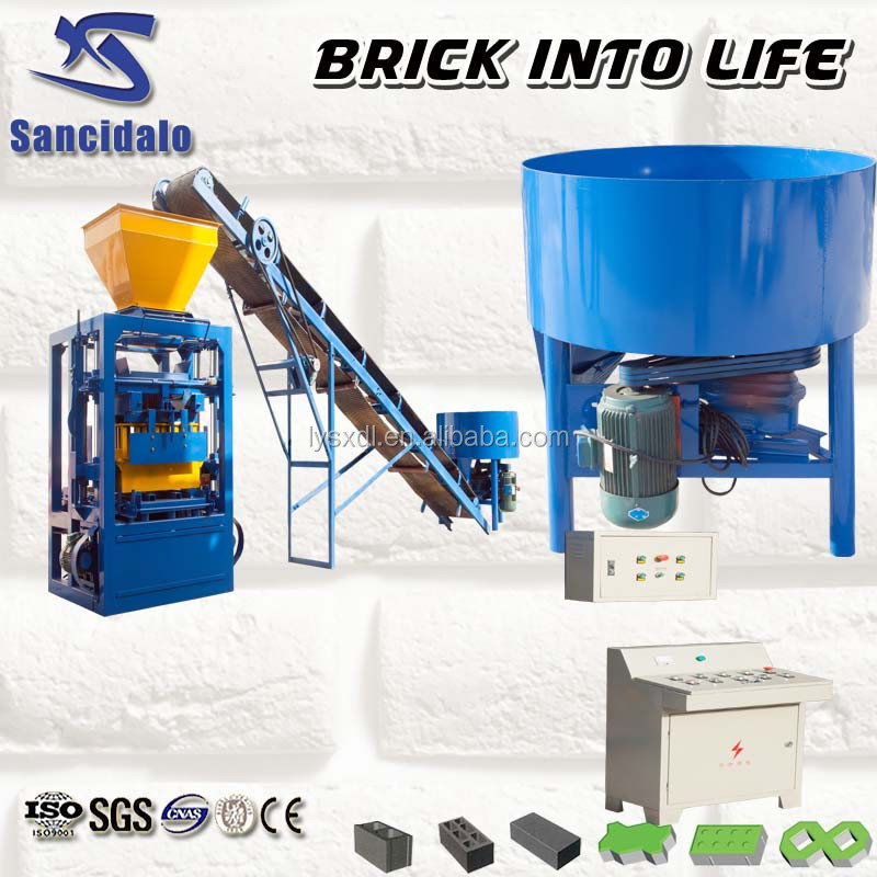 electric stationary block making machine QT4-24 germany interlocking concrete pavers mould brick machine