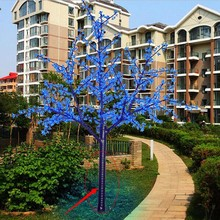 2014 SJ LT020 Outdoor decoration LED artificial cherry blossom tree light for landscape project LED plastic blossom cherry tree