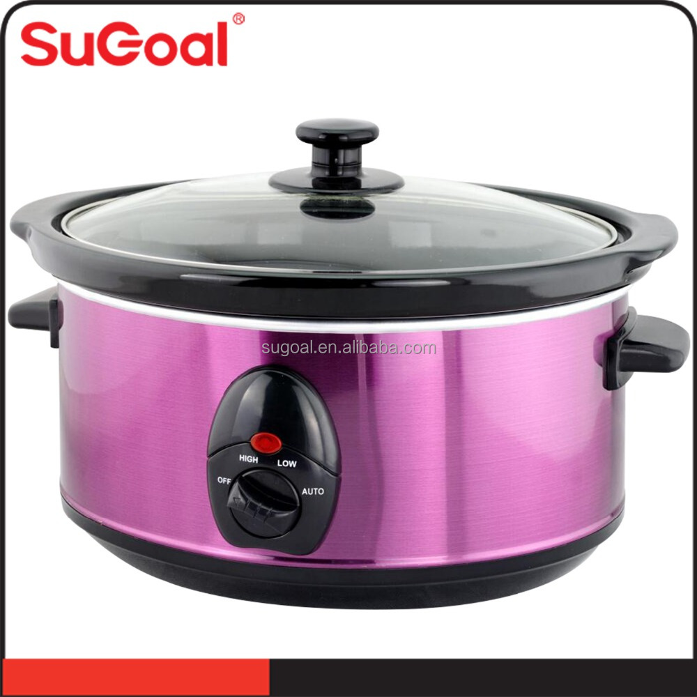 4.5L Automatic electric slow cooker smart stainless steel crock pot