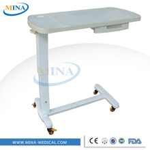 MINA-G06-D Cheap and mobile overbed tray tables with wheels