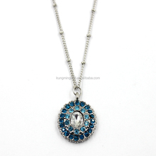 2016 New Design Crystal Jewelry Round Shaped Charms Pendant Necklace