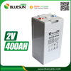Bluesun deep cycle rechargeable agm 2v 400ah battery for led glass shelf