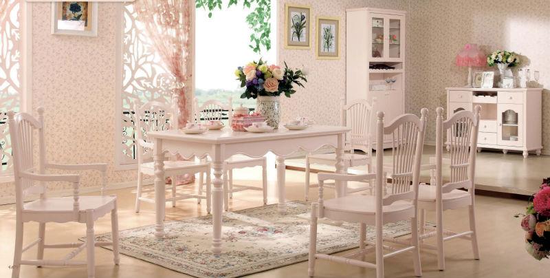 salle à manger table romantique idyllique à bas prix-Lots de salle à ...