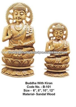 Carved Buddha Mysore Sandalwood/buddha sculptures/wooden sculptures