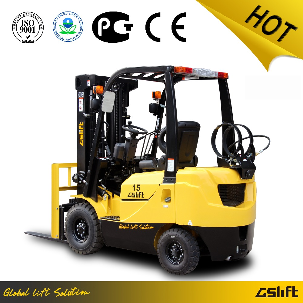 1.5 Ton LPG Forklift Truck with Nissan EPA K21 Engine Hydraulic Automatic Transmission Three Meters