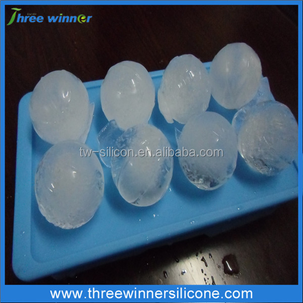 Personalized football shaped silicone ice cube tray