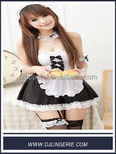 black&white apron dress maid cosplay adult cosplay costume set