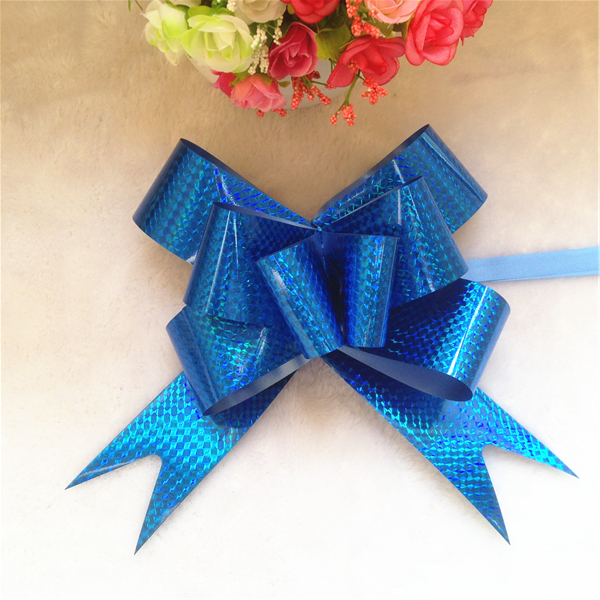 Cheap flashing large blue christmas tree butterfly bows ties