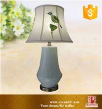 Chinese traditional handmade porcelain ceramic table lamps with lamp shade
