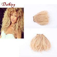 Aliexpress Wholesale Blonde Human Hair Extensions Kinky Curly Virgin Brazilian Human Hair weave