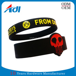 custom rubber silicone band bracelet patterns cool silicone wristband for sports event