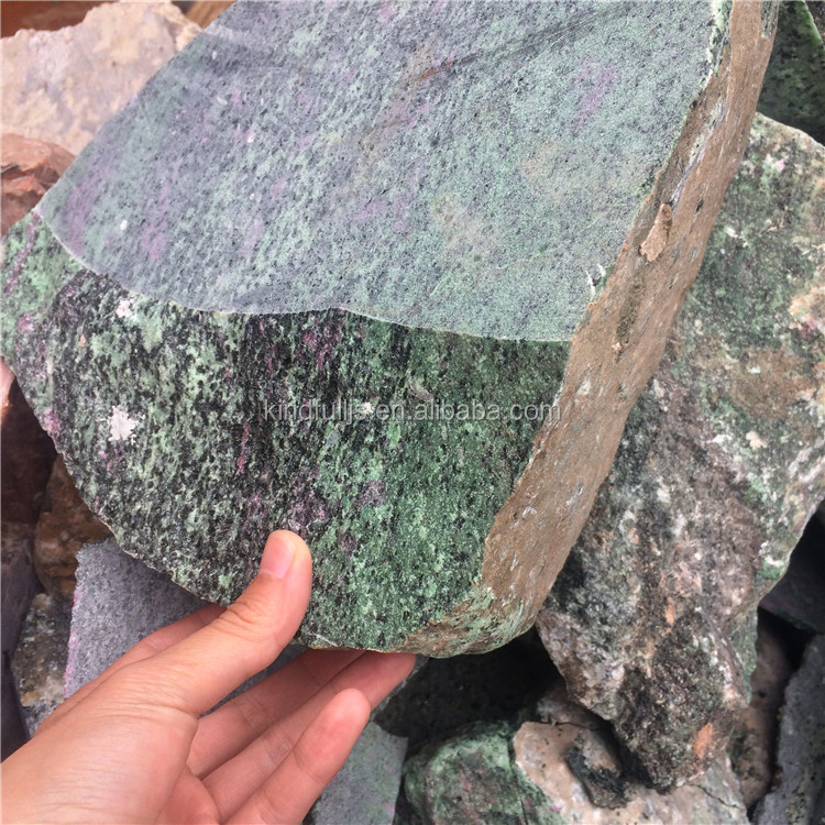 Natural Raw Ruby Zoisite Crystal Rough Stones