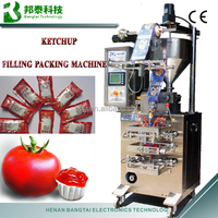 Vertical small plastic bag 4 sides seal ketchup/food/tomato paste automatic packing machine