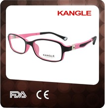 2017 kids flexible temple optical frame and kids eyeglasses