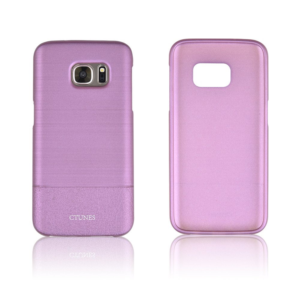 C&T Ultra-Thin Cover Case Drawbench PU Leather Grain Hard Case PC Drop resistance Cover for Samsung Galaxy S7