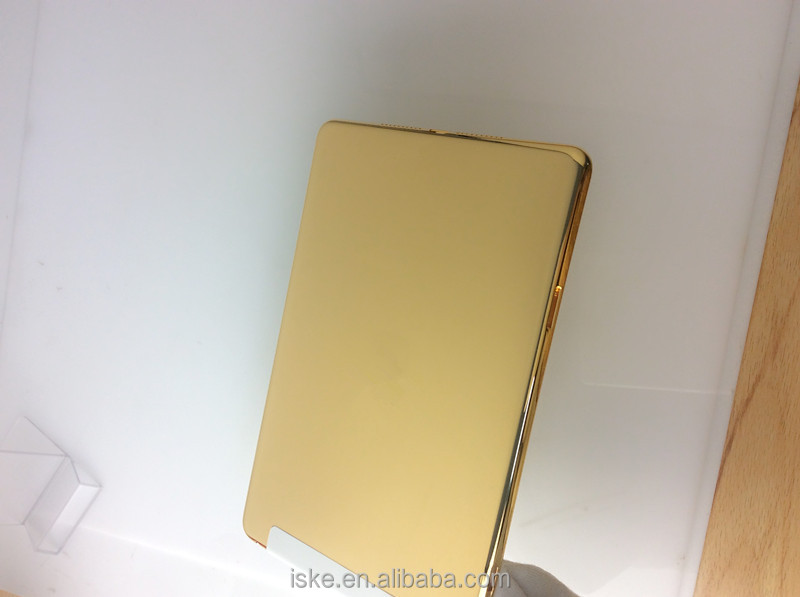2016 new product shiny gold for ipad mini gold housing 24k