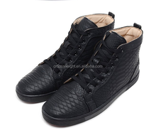 Size 36-46 Men & Women colorful Snake Leather shoes Fashion High Top Casual Shoes for lover