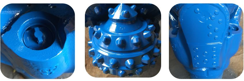 TCI mining rock tricone roller cone bit with tungsten carbide