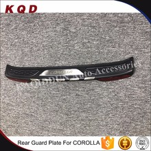 Car Decoration Accessories Plate Guard Stainless Steel RearBumper Foot Plate For Toyota Corolla 2014 New