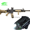 Tactical rifle green laser sight and 550lumen T6 hunting flashlight combo