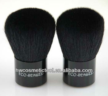 New selling PVC tube natural hair black kabuki brush