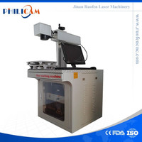 cattle ear tag marking cnc laser machine for jewelry supply from China ruofen company