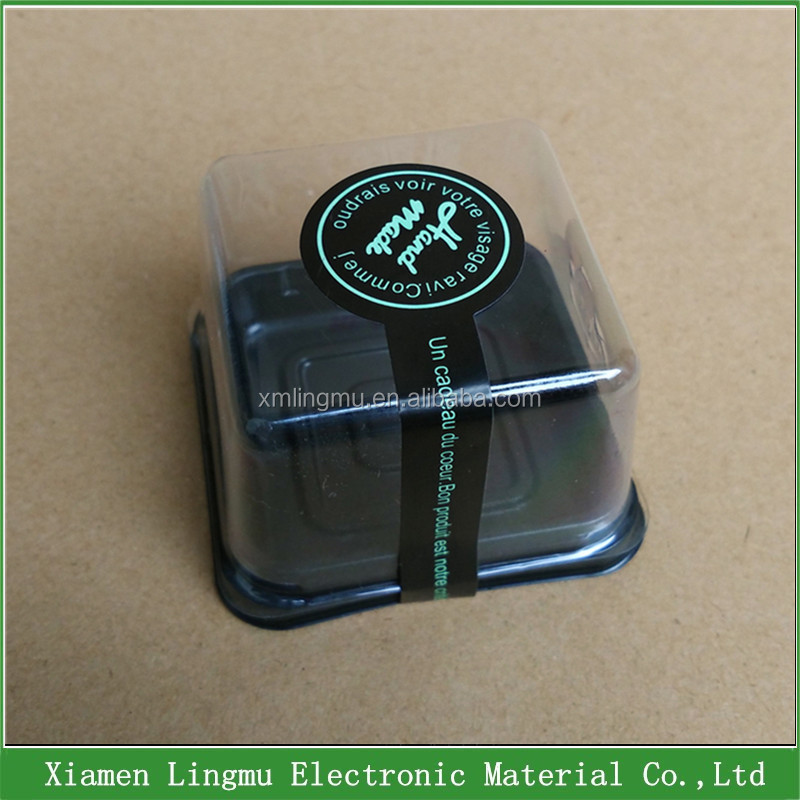 Cheap disposable plastic mini cake and sweet container box and packaging