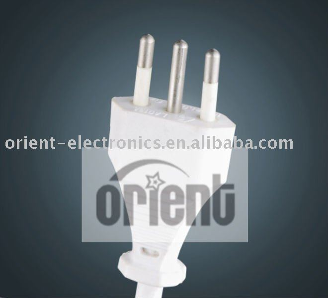 Italy 3-Pin Power Cord Plug with IMQ Certificate