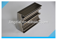 Aluminum sliding window profiles