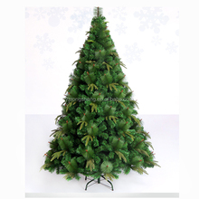 7ft PET mixed PVC green artificial christmas tree pine branches