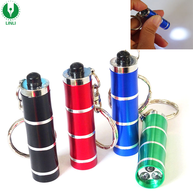 Bamboo Shape Aluminium Led Flashlight Key Ring Torch