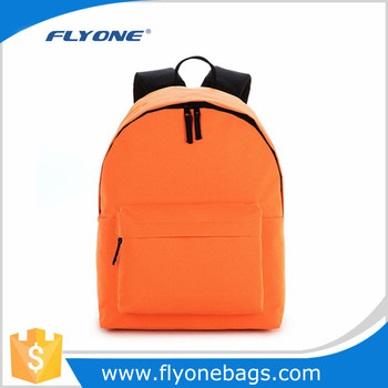 Basic polyester teenager student fashion school backpack