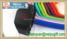 Ice color silicone electronic wristwatch, silicone digital wristwatch for wrist decorate