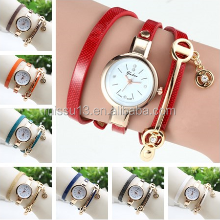 2016 new style rhinestone pendant wrist watch women watches