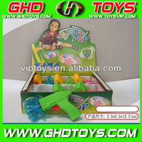 wholesale spinning flash top toys with gun