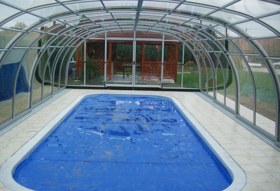 New Product Swimming Pools : New polycarbonate swimming pool cover